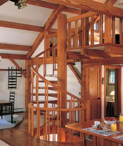 Le choix d'un escalier en colimaçon