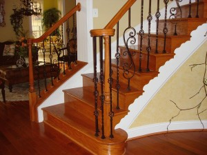 A construção de uma escada de madeira