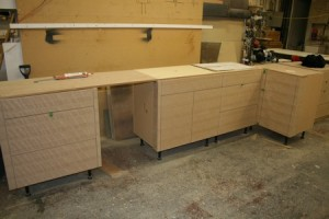 Finishing kitchen cabinets