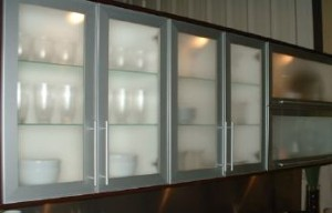How to install glass cabinet doors