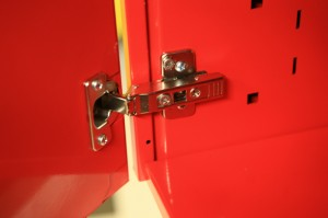 Painting cabinet door hinges