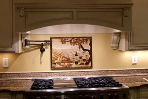 Removable kitchen back-splash