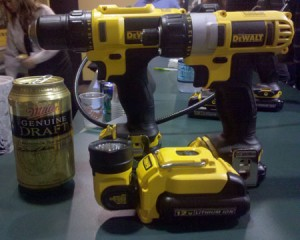 Over DeWalt 12V boormachine