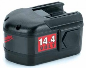 Le Milwaukee 14,4 volts de la batterie