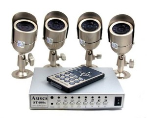 CCTV Home Security Lights and Monitor System
