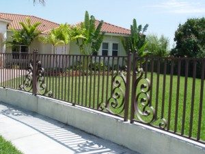 Ornamental aluminum fence