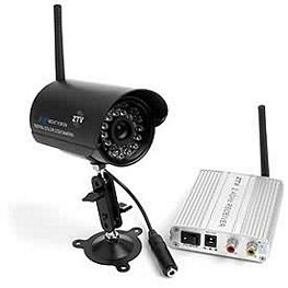 Wireless security cameras guiding