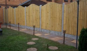 Wood and Metal fence panels