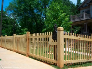 About wood picket fence
