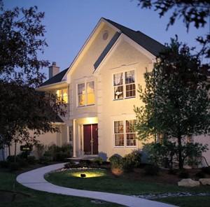 A iluminação exterior para a segurança home