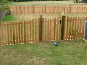 Building a cedar picket fence