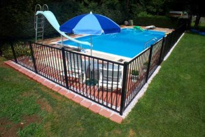 Installing a pool safety fence