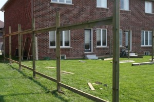 Installing wood fences
