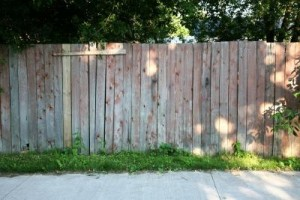 Refinishing an old fence