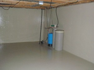 Basement leak sealer