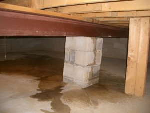 Flooded crawl spaces