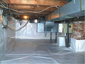 Preparing for a vapor barrier installation