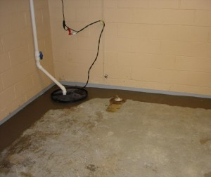 Dry basement systems