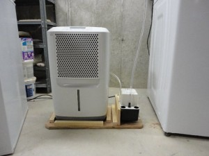 Temperature guide for basement dehumidifier