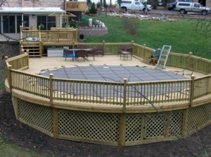 Tips about building a deck around your above ground pool