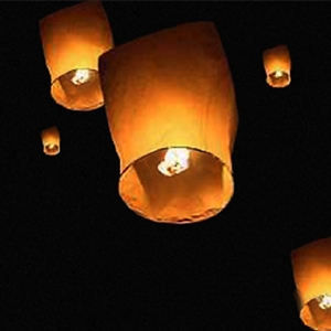 Make your own flying paper lanterns