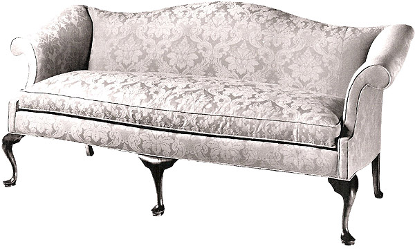 queen anne sofa slipcover. Black Bedroom Furniture Sets. Home Design Ideas