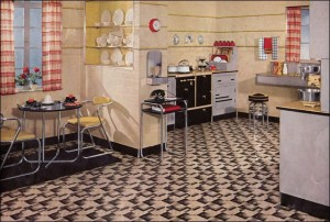 Different kitchen styles of the 1930s