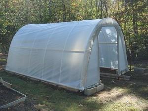 Bir arka bahçe sera bina
